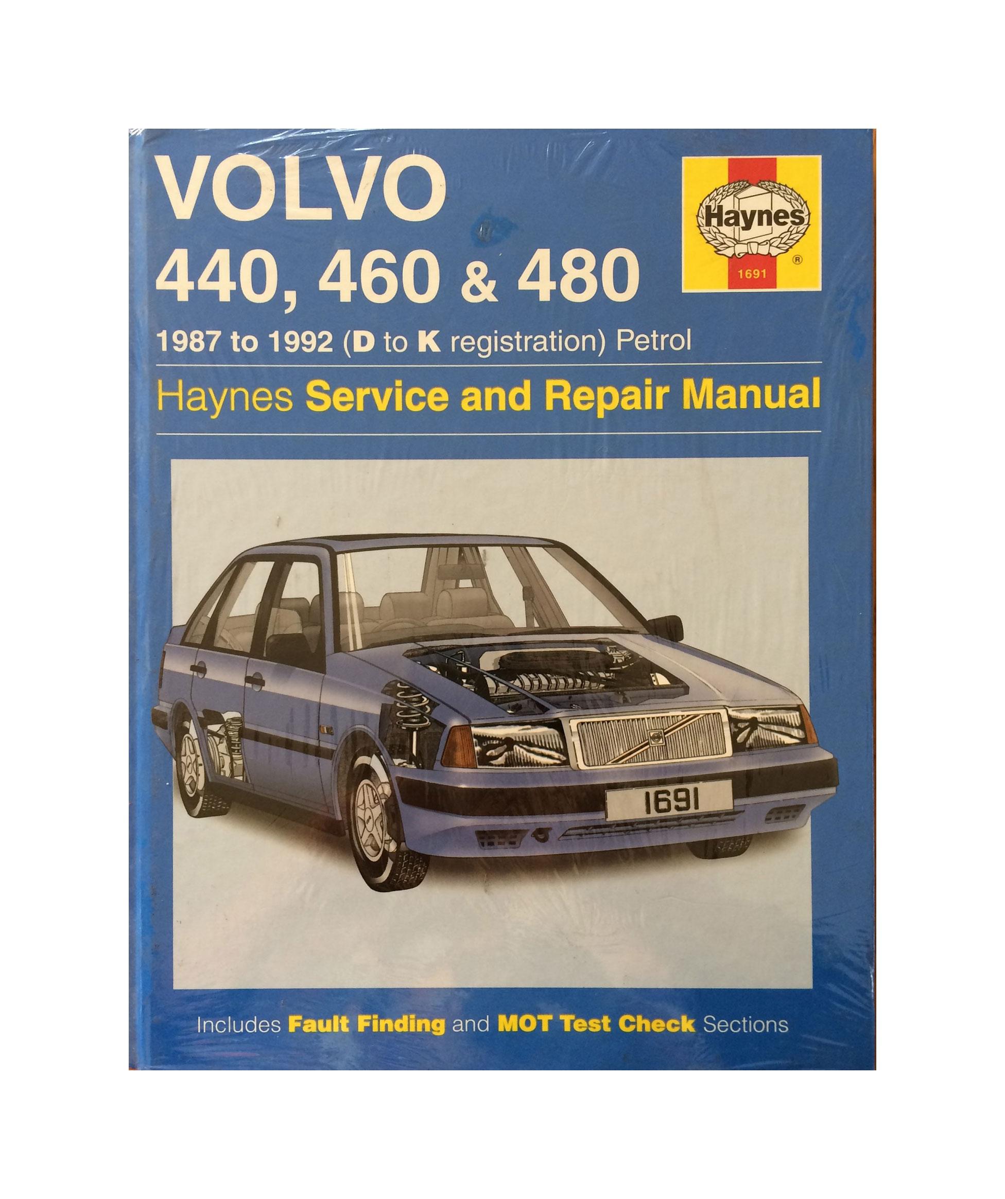 Volvo 440, 460, 480 D-K reg Petrol – Haynes Service & Repair Manual