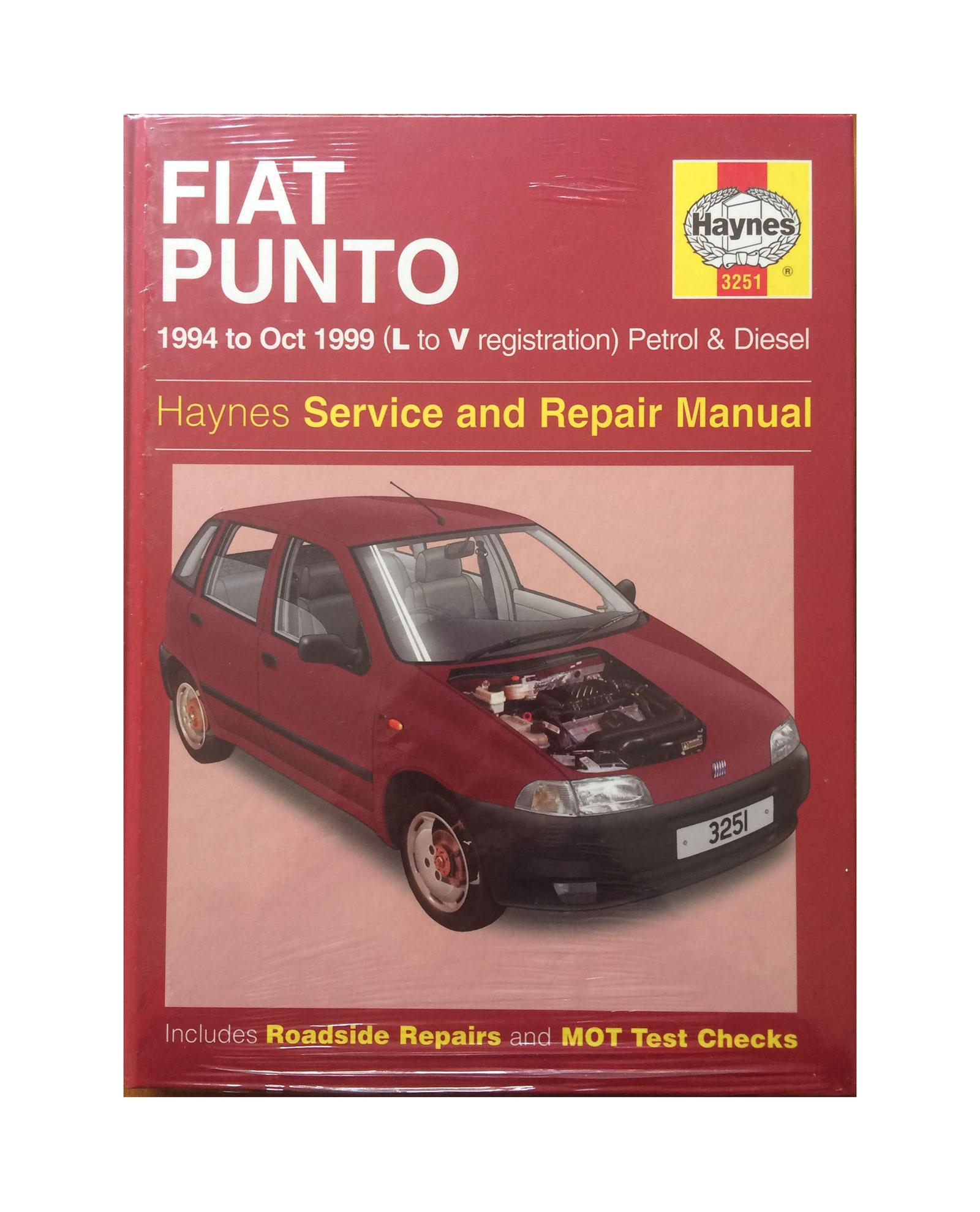 Fiat Punto L-V reg Petrol & Diesel - Haynes Service & Repair Manual